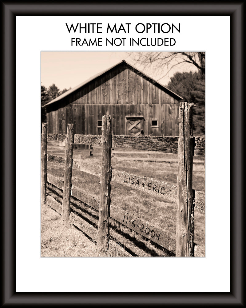 Barn Fence Personalized Artwork