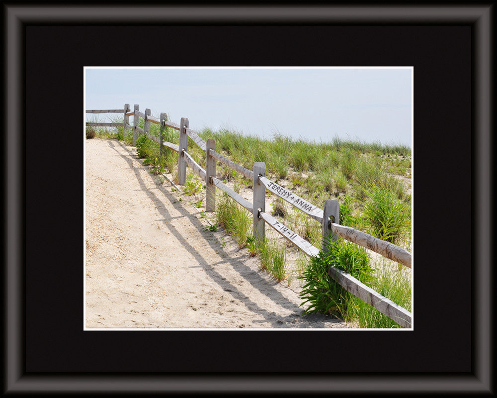 carved beach fence art