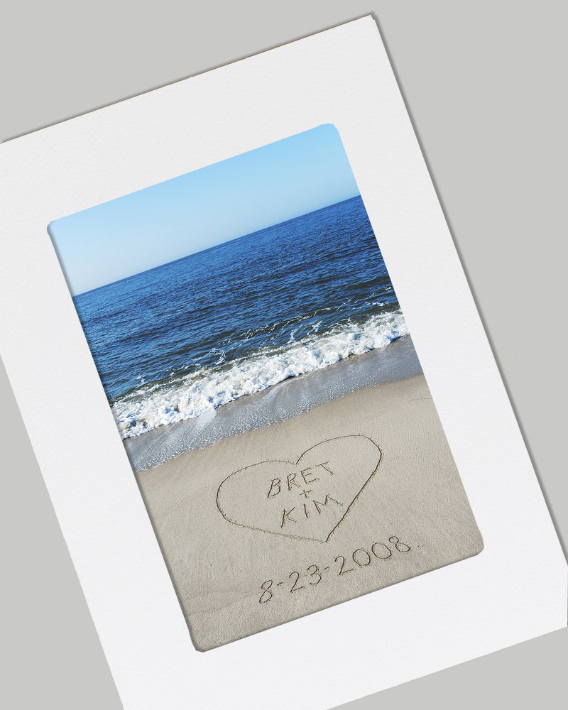 Beach Romance Custom Card