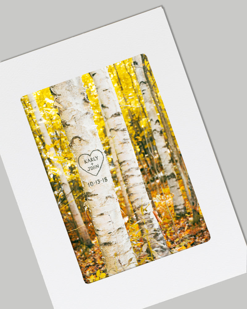 Birch Tree Personalized Card