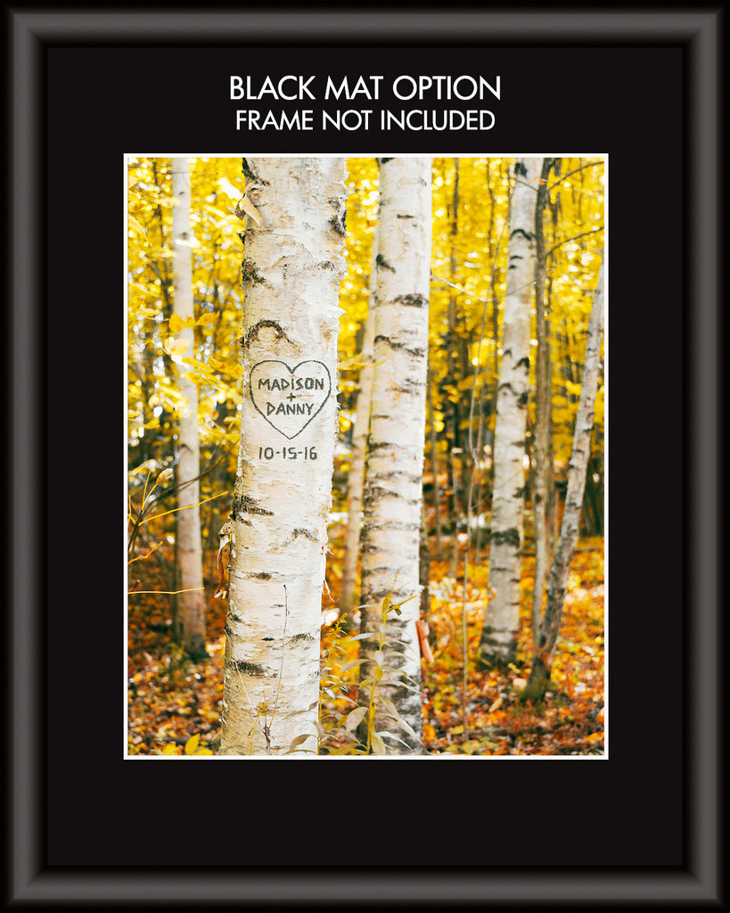 Birch Trees Personalized Wall Art