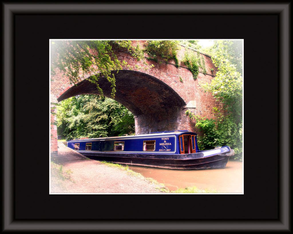 Canal Boat Personalized Art