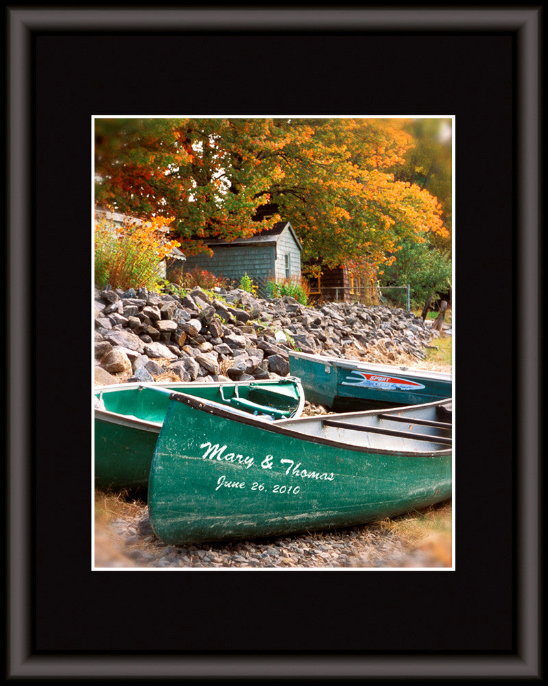 personalized wall art canoe