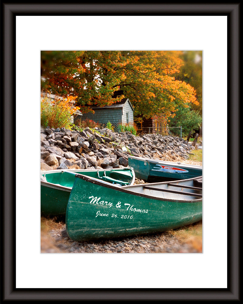 personalized print canoe