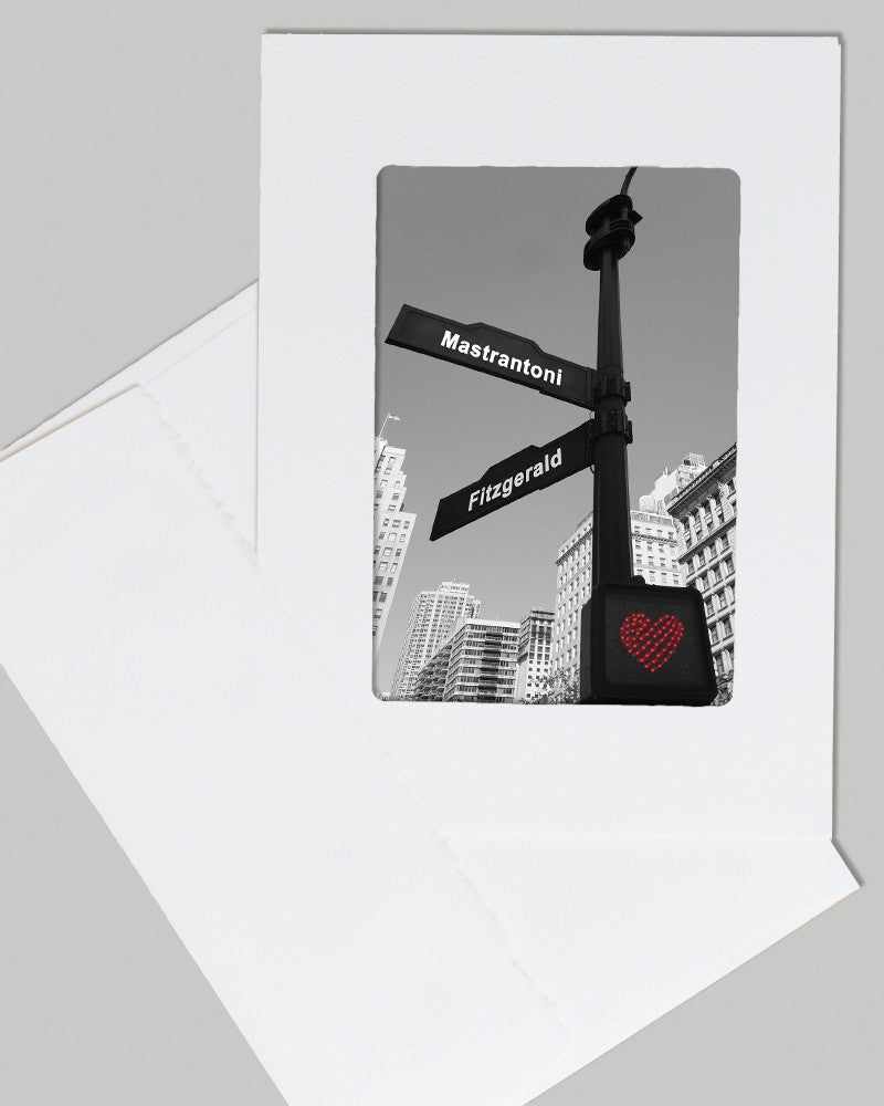 street signs personalized card