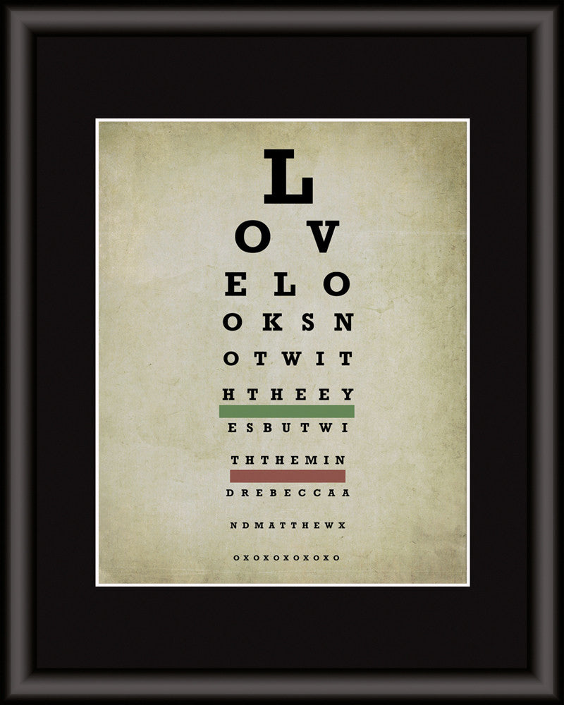 eye chart personalized