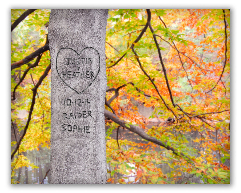 personalized autumn tree print