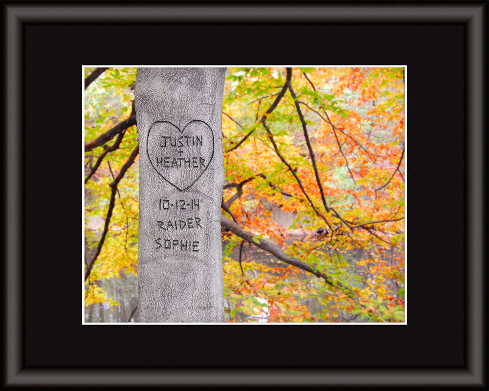 personalized tree art autumn