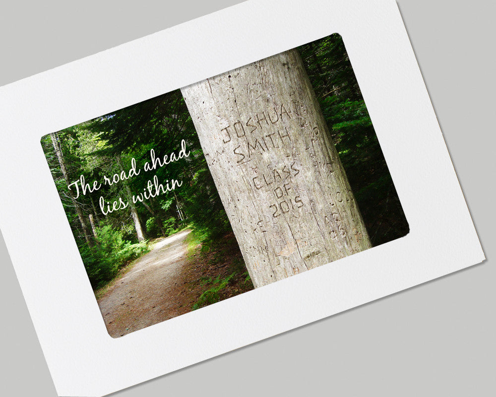 tree personalized graduation card