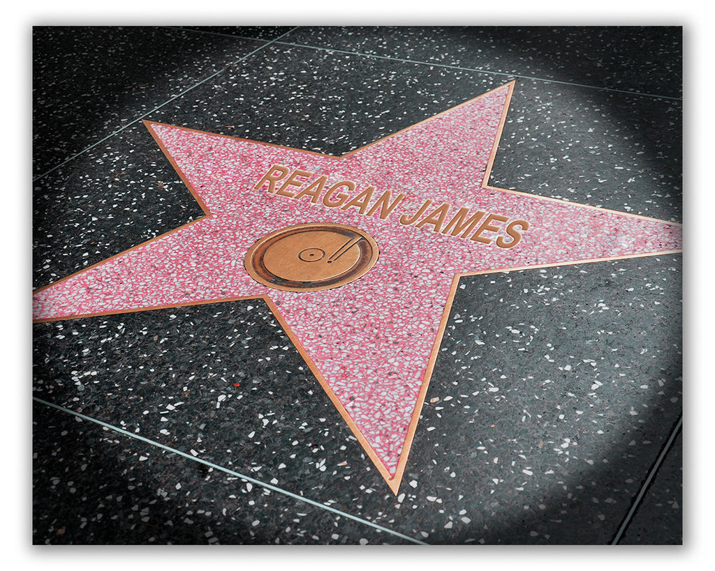 personalized hollywood walk of fame star
