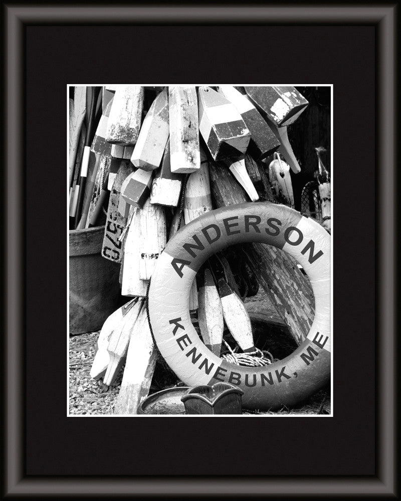 personalized life preserver wall art