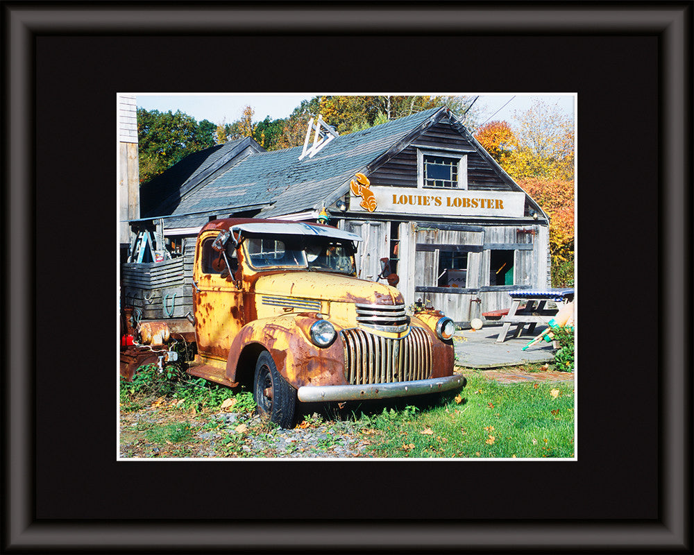 old truck and lobster shack print