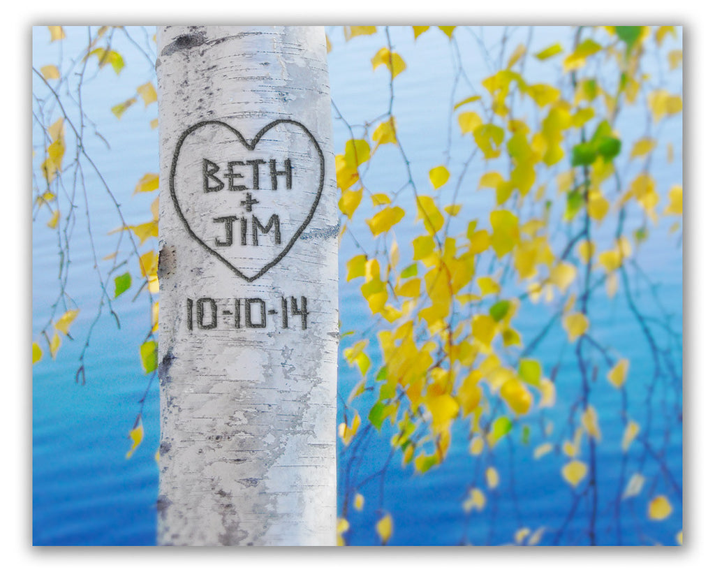 personalized birch tree print