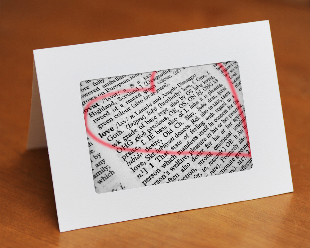Love Defined Dictionary Card Custom