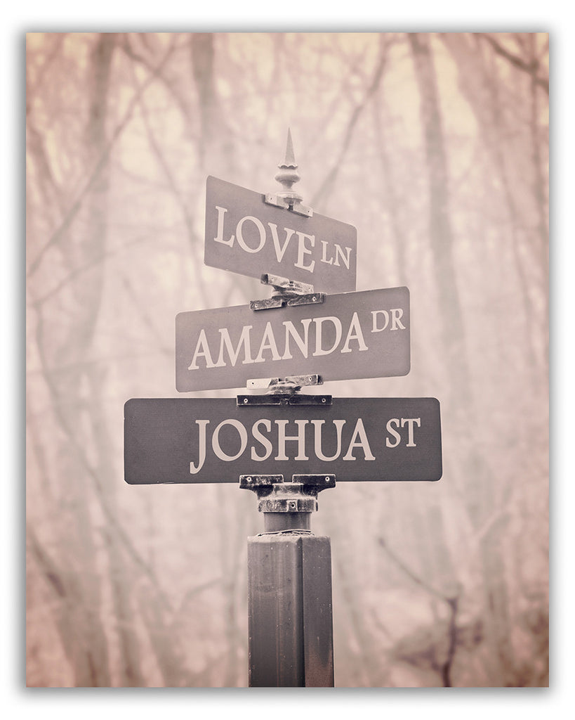 personalized street sign print