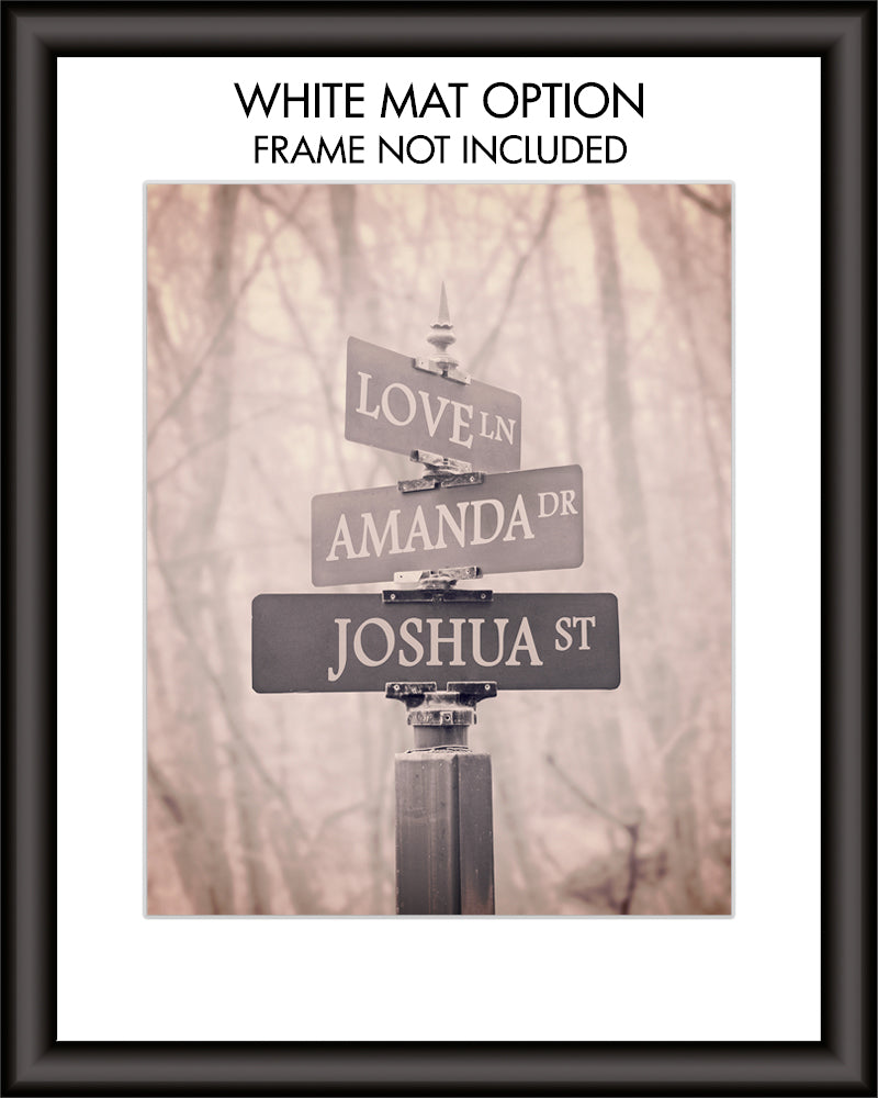 Personalized Street Signs Wall Art