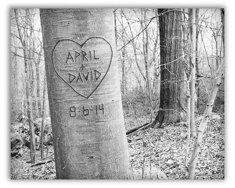 Personalized Tree Prints
