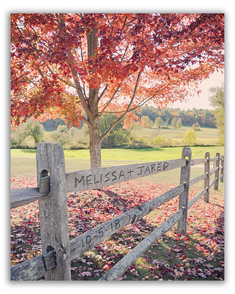 fall wall art personalized