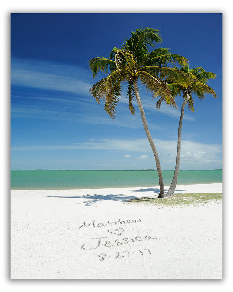 tropical beach wall art