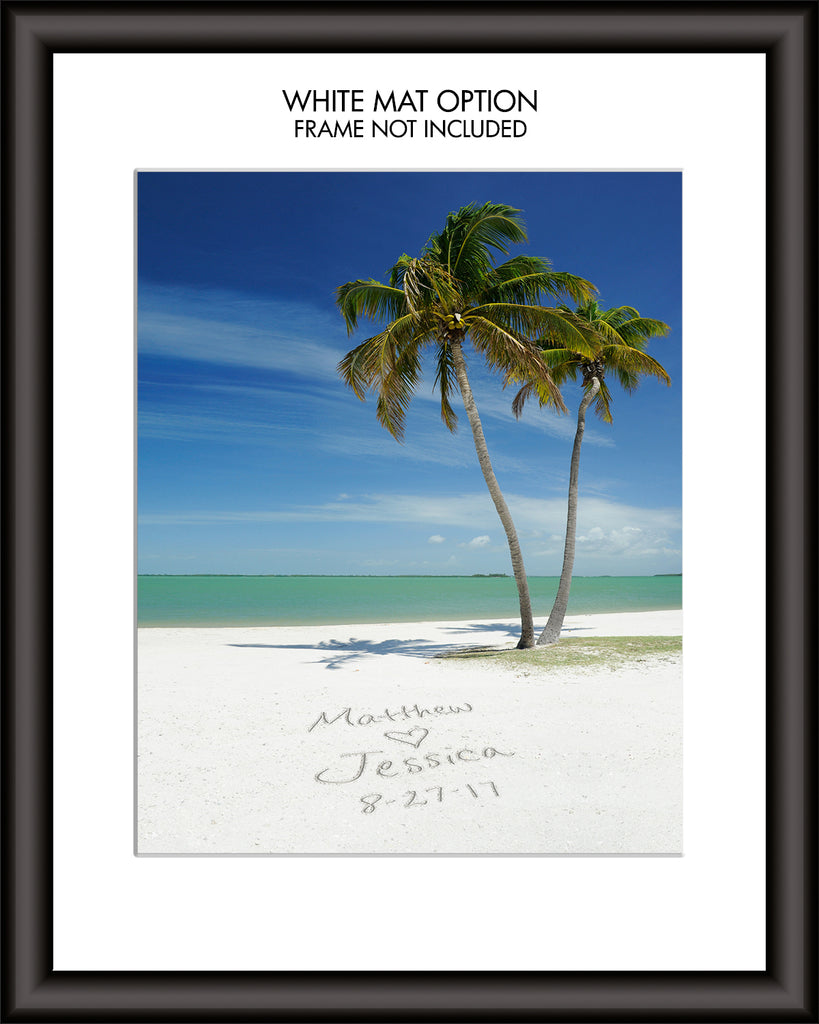 Tropical Beach Personalized Wall Art