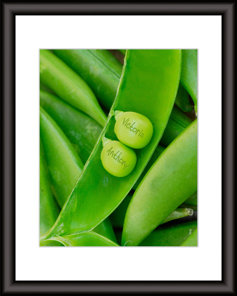 Peas In A Pod Art Print Personalized With Your Names
