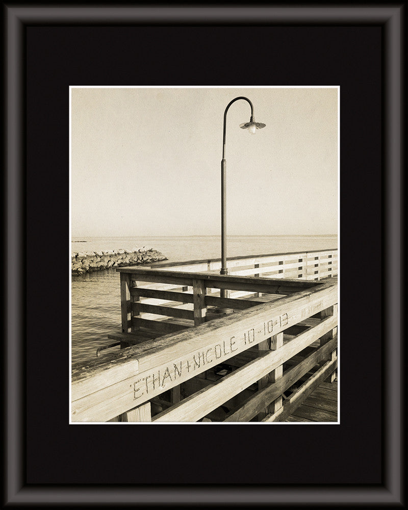 ocean pier picture personalized