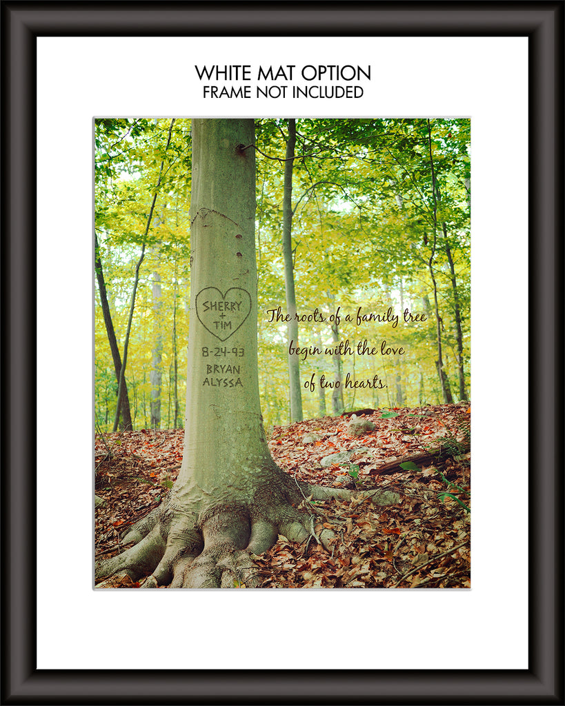 Roots of Love Custom Tree Carving Print