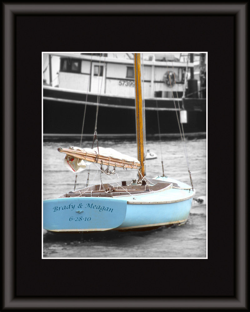 personalized sailboat print