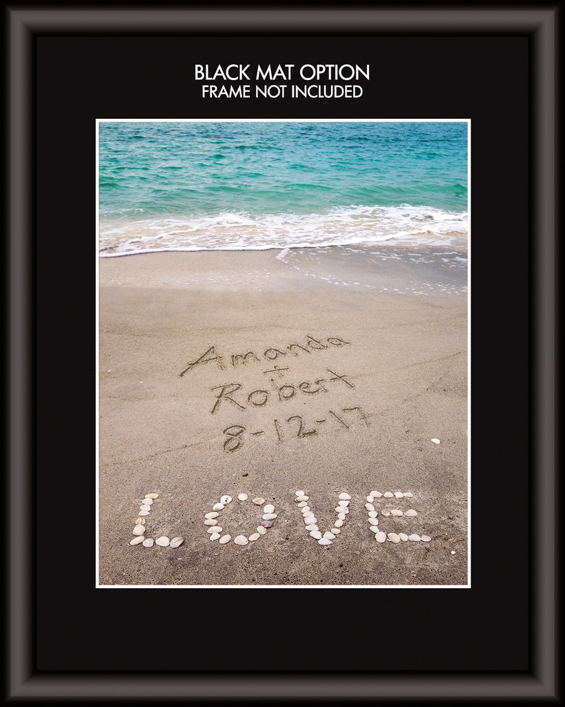 Shell Love Beach Personalized Art