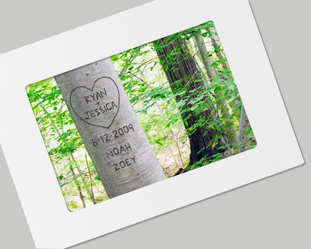 personalized summer love tree card