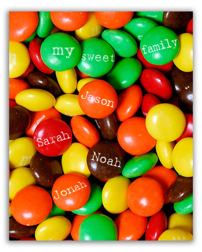 Custom Candy Wall Art Print