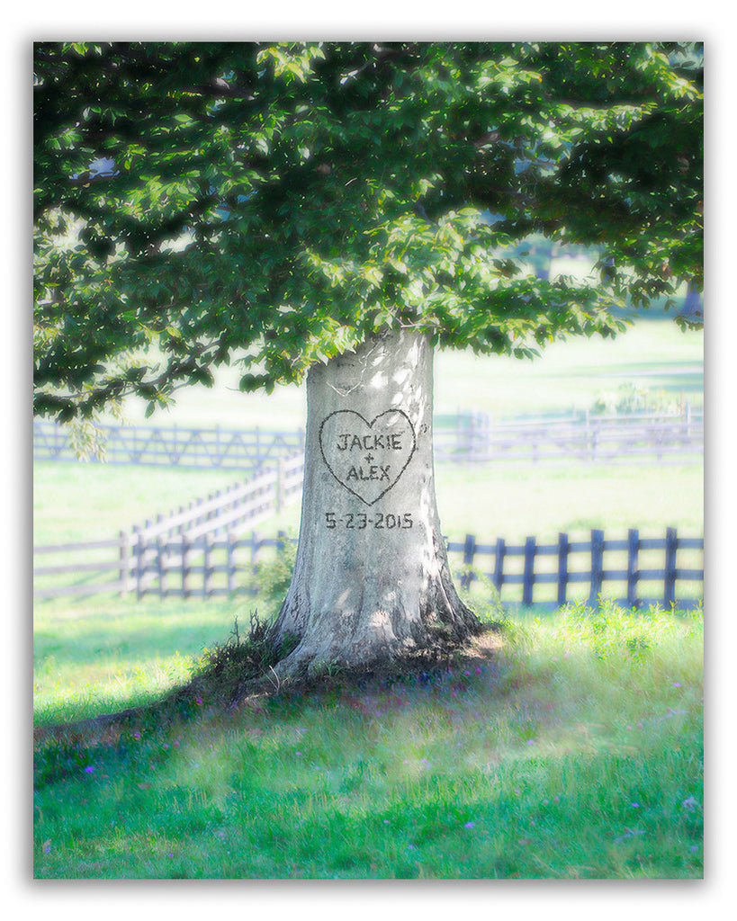 personalized tree canvas art