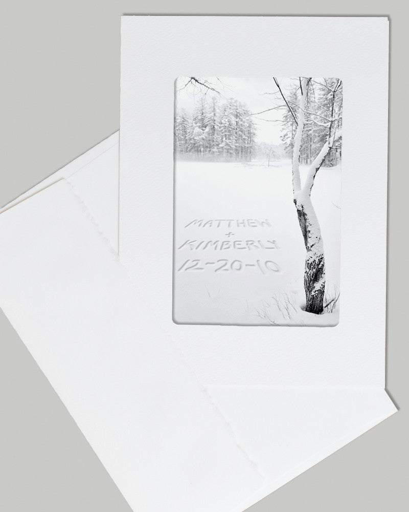 personalized card winter