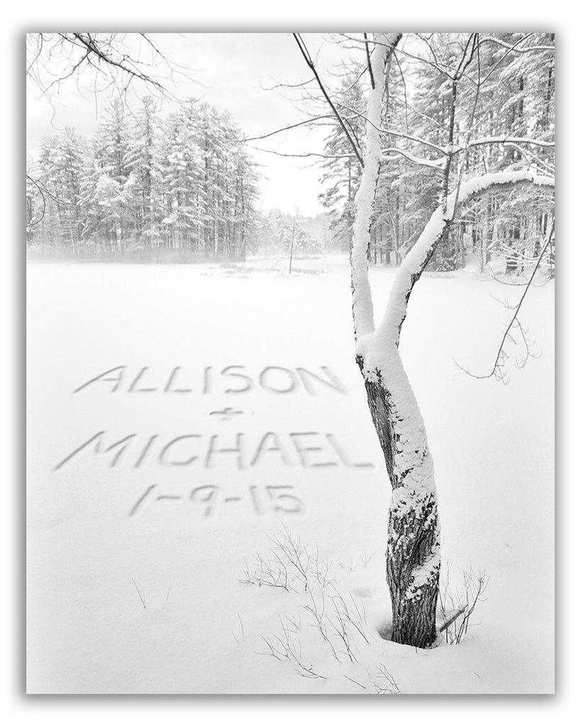 custom wall art names in snow