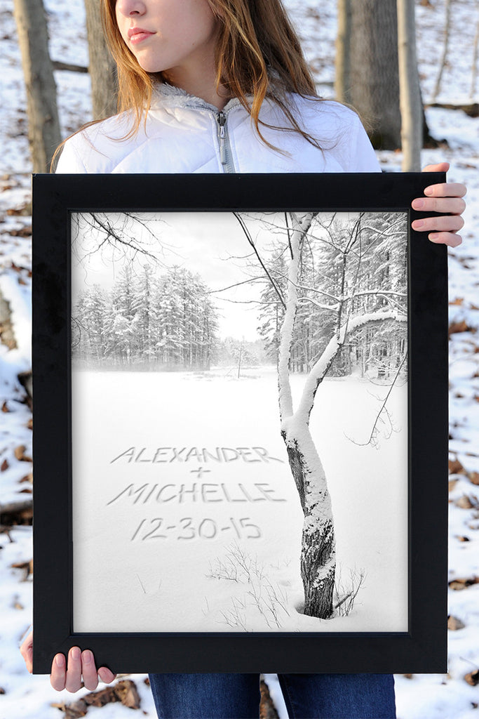 winter personalized wall decor