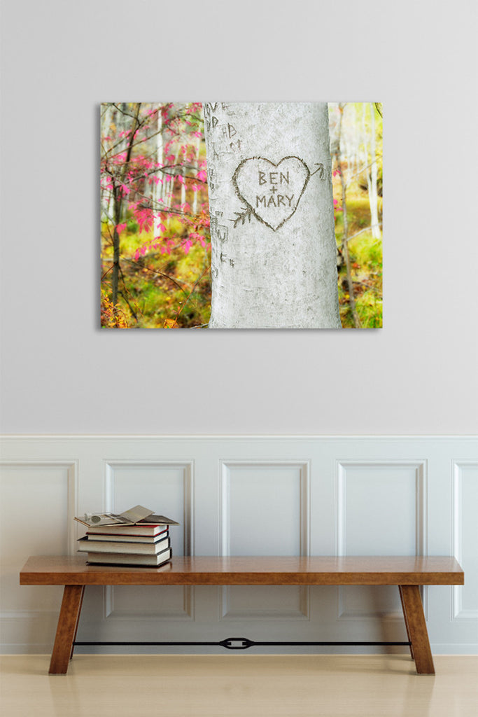 Carved Heart Tree Personalized Art