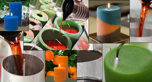 Scented pillar candles made in the USA.