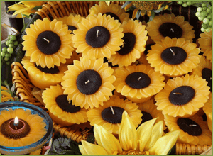 Floating Sunflower and Flower Candles