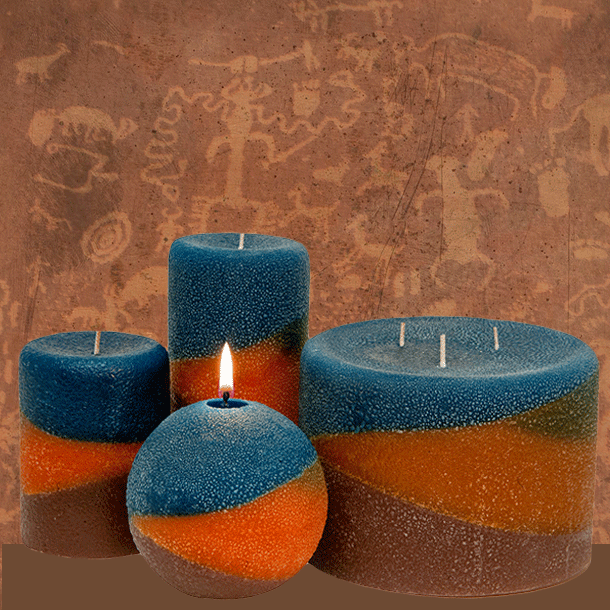Scented Southwest Pillar Candles