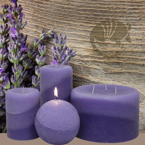Scented Textured Pillar and Ball candles