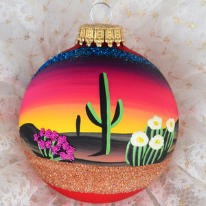 Southwest Glass Ornaments - Armadilla Wax Works Candle Factory Store