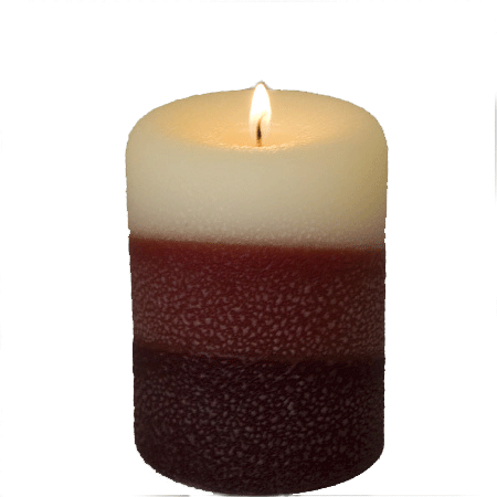 Vanilla Sandlewood Pillar Candles