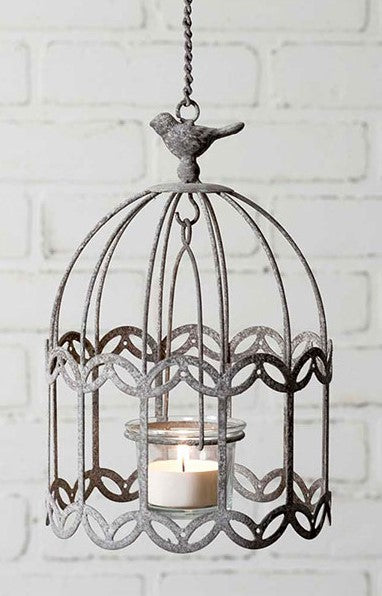 Metal Hanging metal tealight holder - Candle Factory Store