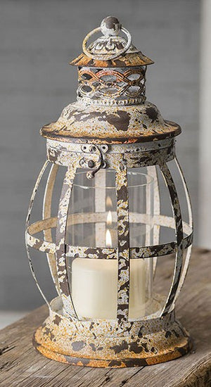 Rustic white lantern - Candle Factory Store