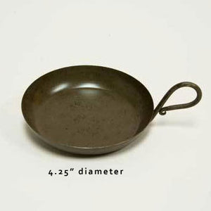 "Iron Candle Pan 4.25"" Diameter - Candle Factory Store"