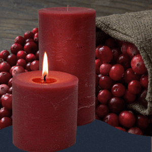 Double Fragrance Cranberry Pillar Candles