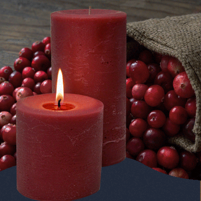 Cranberry scented delightful fragrance for any season. Made in the USA.