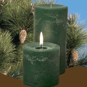 Double Fragrance Ponderosa Pine Pillar Candles