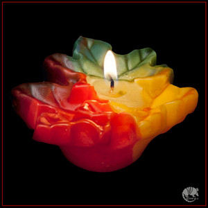 Hand dipped fall leaf floating candle is perfect for fall decor made in the USA.
