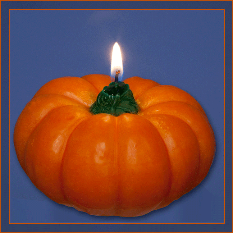 Large pumpkin candle for floating candle centerpiece or tabletop decor. How about a Cinderella theme?